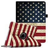 ipad 3 case with stand - Fintie iPad mini 1/2/3 Case - 360 Degree Rotating Stand Case Cover with Auto Sleep / Wake Feature for Apple iPad mini 1 / iPad mini 2 / iPad mini 3, US Flag