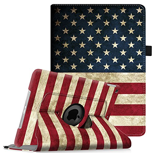 Fintie iPad mini 1/2/3 Case - 360 Degree Rotating Stand Case Cover with Auto Sleep / Wake Feature for Apple iPad mini 1 / iPad mini 2 / iPad mini 3, US Flag