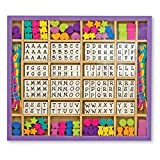 Melissa & Doug Deluxe Created by Me! Wooden Alphabet Beads Set (Jewelry-Making Kit, Over 200 Beads, 8 Cords)