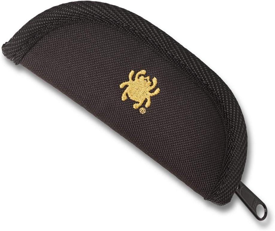 Spyderco Small Pouch Padded Black Nylon Zipping Case