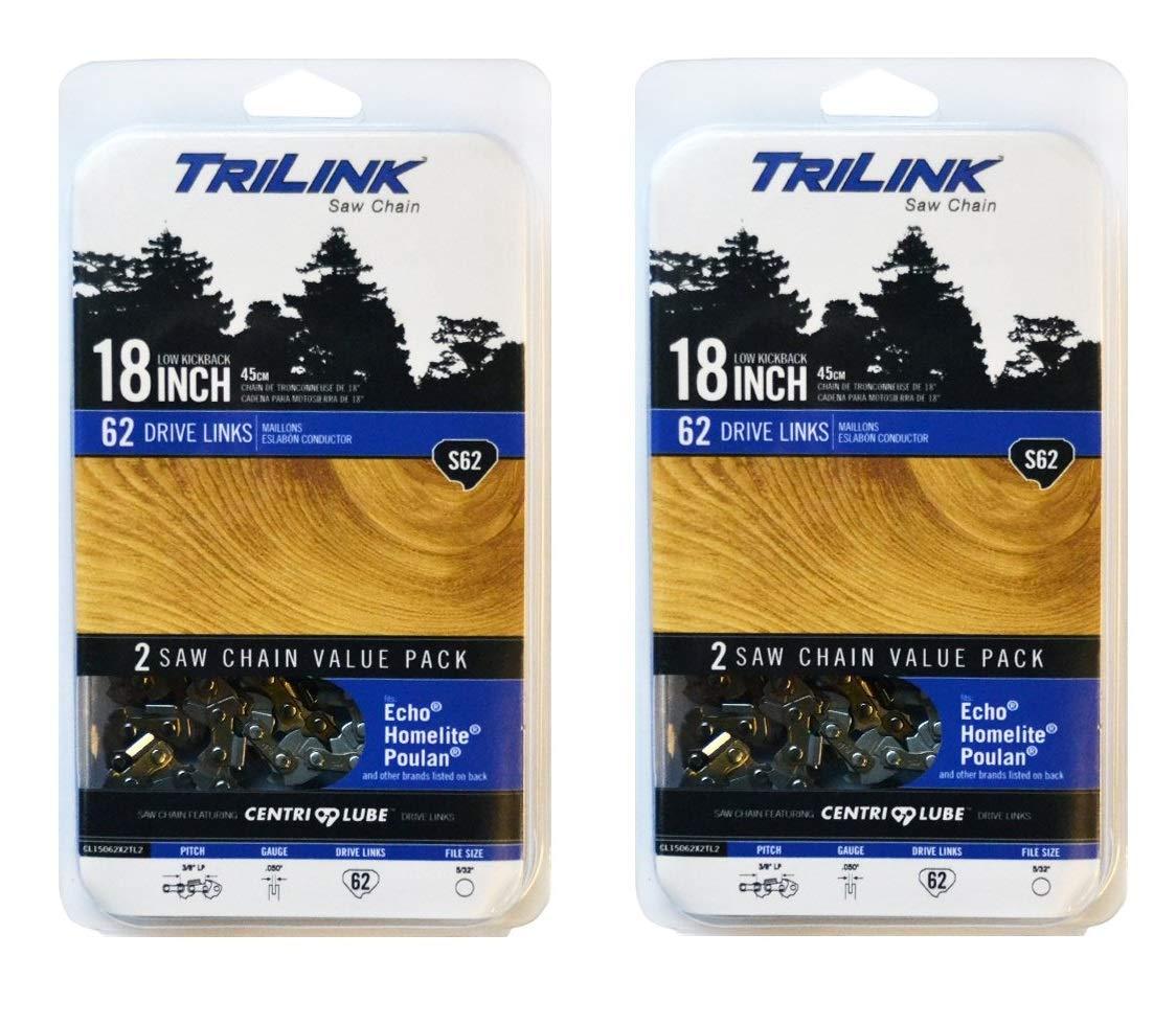 Trilink Saw Chain CL15062X2TL2 18'' Twin Pack S62 (Twо Расk)