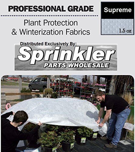 Sprinkler Parts Wholesale 1.5 oz Frost Cloth Plant Freeze Protection Germination Blanket - 12x180-Feet by SprinklerPartsWholesale