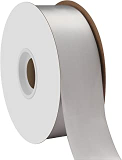 "product image for Offray Berwick 1.5"" Single Face Satin Ribbon, Silver Gray, 50 Yds"