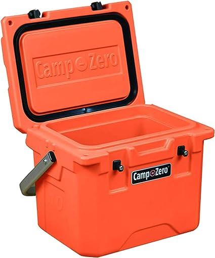 Details about  /Camp Zero Chest Cooler 10.6 Qt Cup Holder Aluminum Handle Polyethylene Orange