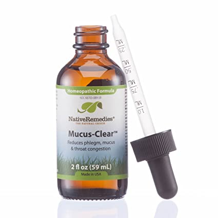Native Remedies Mucus-Clear for Mucus & Phlegm Congestion, 59ML Bottle