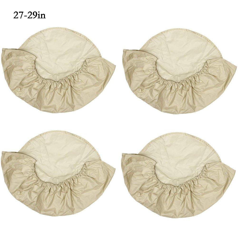 Enjoyall Set di 4 copertine di copricerchi in tela di Oxford impermeabile per camper da rimorchio per auto camper RV Auto, 24-26' 27-29' 30-32' 33-35' 24-26 27-29 30-32 33-35