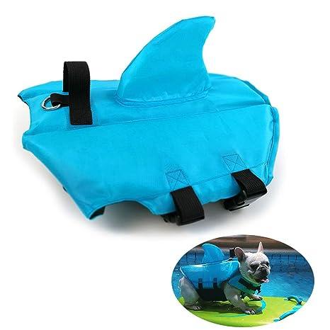 HanDingSM Chaleco salvavidas del animal doméstico,Chalecos salvavidas para perros,Perros pequeños Shark Pattern