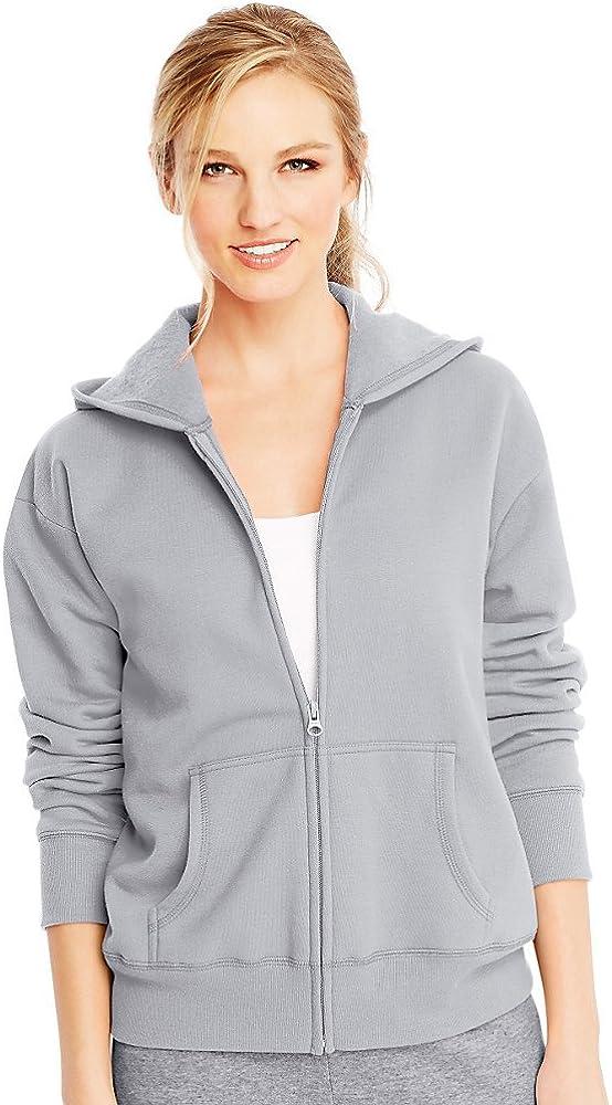 Hanes ComfortSoft EcoSmart Women's Full-Zip Hoodie Sweatshirt_Light Steel_L