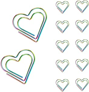 Joyci Deluxe Paper Clip 30 PCS Bookmark Clip Page Marker File Document Clamps Funny Office Supplies Gifts (Heart Shaped)