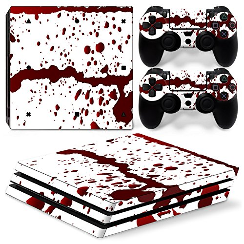 GoldenDeal PS4 Pro Console and DualShock 4 Controller Skin Set - Blood - PlayStation 4 Pro Vinyl