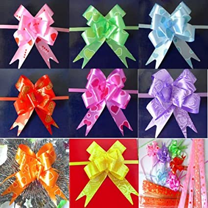 Infinxt 50Pcs Pull Flower Ribbon For Gift Wrap Decoration