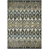 Area Rugs, Maples Rugs [Made in USA][Nessa Artwork Collection] 7' x 10' Non Slip Padded Large Rug for Living Room, Bedroom, and Dining Room
