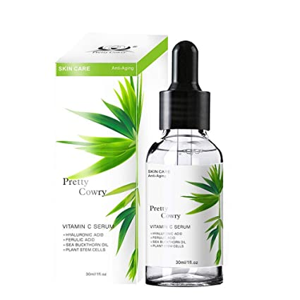 Sérum de vitamina C orgánico Pawaca para cara, suero facial antienvejecimiento con ácido hialurónico,