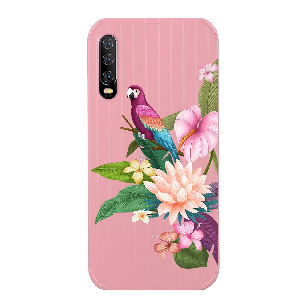AIsoar Compatible with Huawei P20 Pro Case,Huawei P20 Pro Cover 3D Suitcase Luggage Stripe Wave Colorful Pattern Design Soft Bumper Hard Back Shockproof Protection Shell Case for Girls Women-Dog