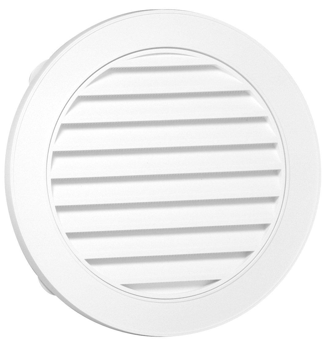 Duraflo 626055-00 22-Inch Round Gable Vent, White