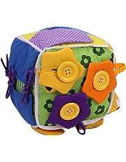 per Montessori Tableros de Aprendizaje Juguete de Enseñar Vestir Preescolar 6 Piezas en 1 Libros Blando de Juguete Educativos (B)