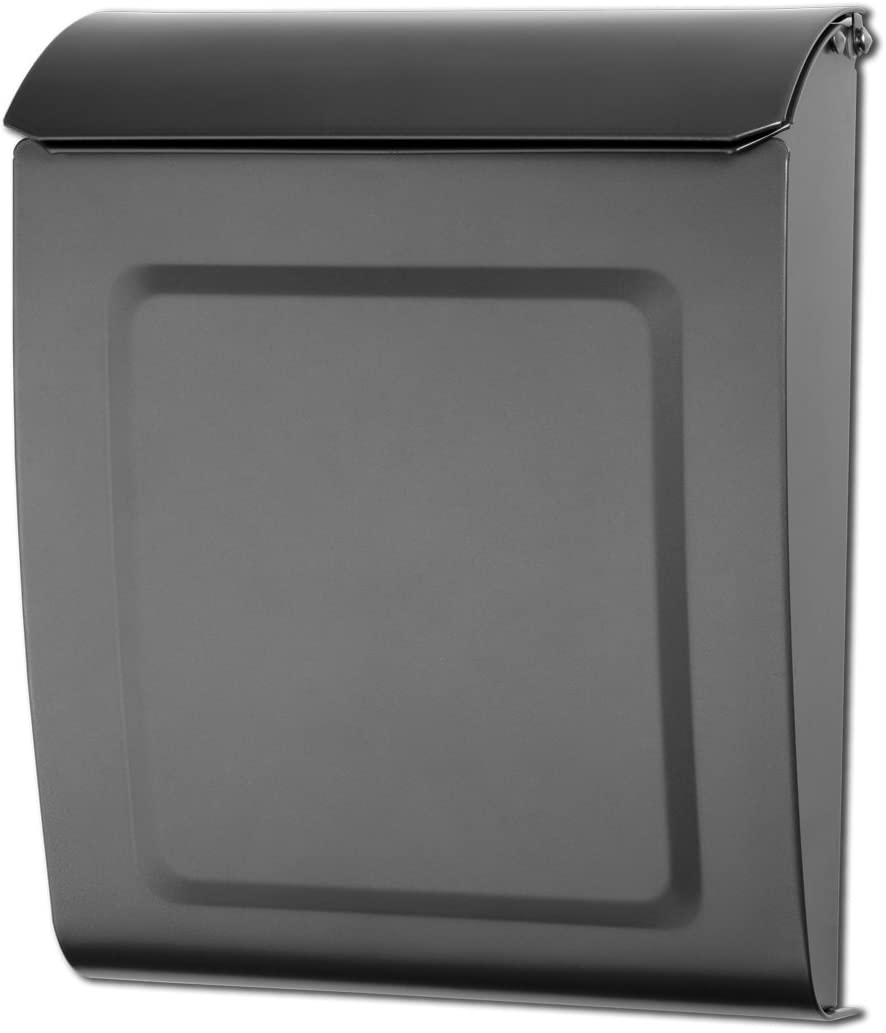 Architectural Mailboxes 2594GR-10 Graphite Aspen Locking Wall Mount Mailbox, Small