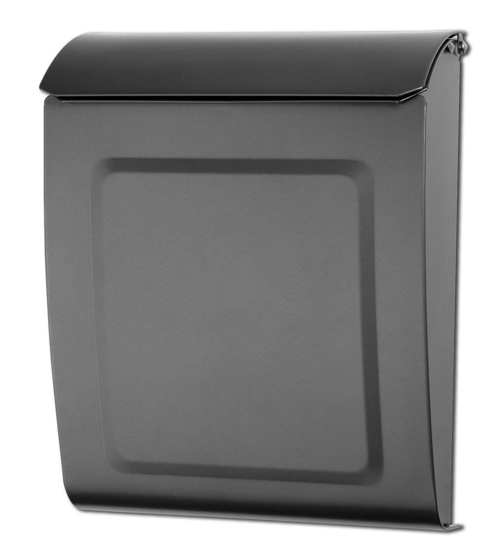 Architectural Mailboxes 2594GR-10 Aspen Locking Wall Mount Mailbox Graphite Aspen Locking Wall Mount Mailbox, Small