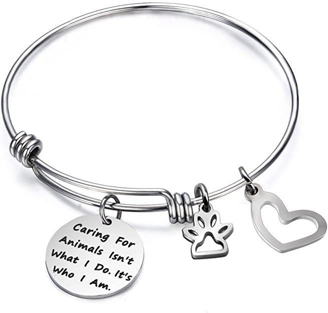 Caring for Animals is Who I Am Bracelet