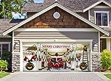 Huge Santa's Reindeer Barn Outdoor Christmas Holiday Garage Door Banner Décor 7'x16'