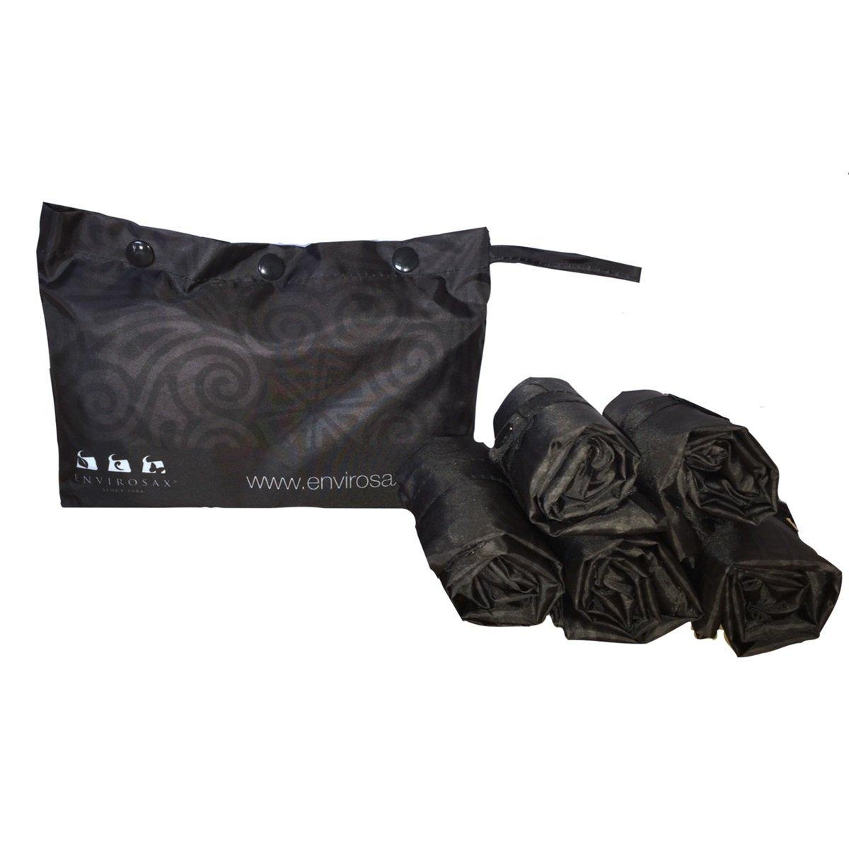 Envirosax DD。p5 Duskyダマスクポーチreusable-grocery-bags、ブラック B0742RDLZQ