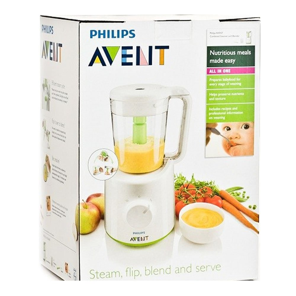 PHILIPS Avent SCF870 Combined Baby Food Master Steamer and Blender 400W