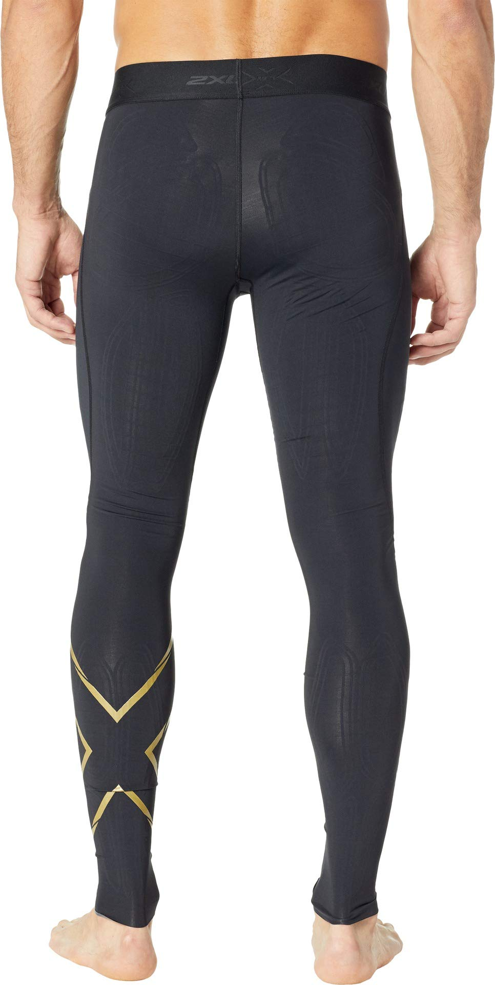 2XU Men's MCS Cross Training Compression Tights Black/Gold XX-Large R by 2XU (Image #3)