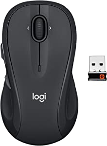 Logitech M510 Wireless Computer Mouse for PC with USB Unifying Receiver - Graphite