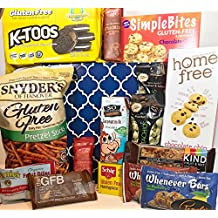 Big Gluten Free Dairy Free Gift Box Basket - Over 4 Lbs - Birthday College Military Care Package Sympathy Thinking of You Get Well Christmas Valentine's Easter Mother's Day Father's Day
