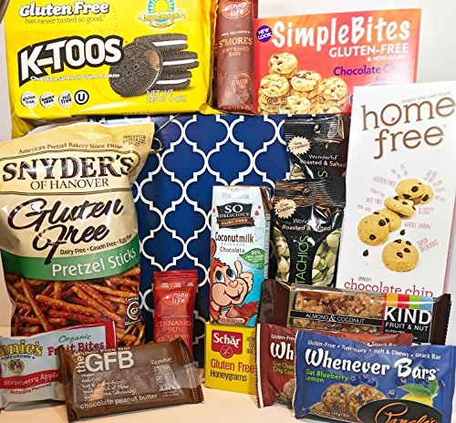 Gluten Free Dairy Free Gift Box Basket - Yummy Treats! - For Birthday, College, Military, Care Package, Sympathy, Thinking of You, Get Well, Easter, Mother's Day, Christmas, More! Family Christmas Ideas Instead Of Gifts
