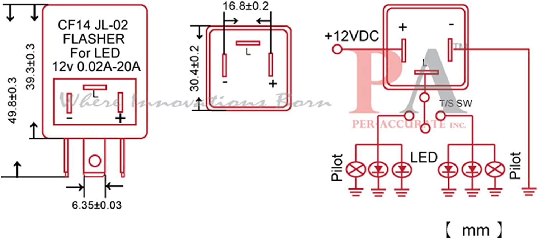 PA 1X 8-Pin LED Turn Signal Flasher Relay 81980-50030 066500-4650 Fix Toyota//Lexus LED Fast Flash