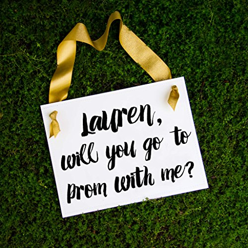 Personalized Will You Go To Prom With Me Invitation Sign with Custom Name -