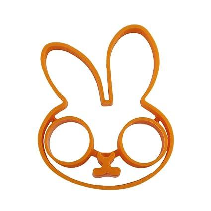 Naranja Desayuno Conejo de Silicona Molde de Huevo Frito Panqueque Anillo Shaper Herramientas de Cocina Utiles
