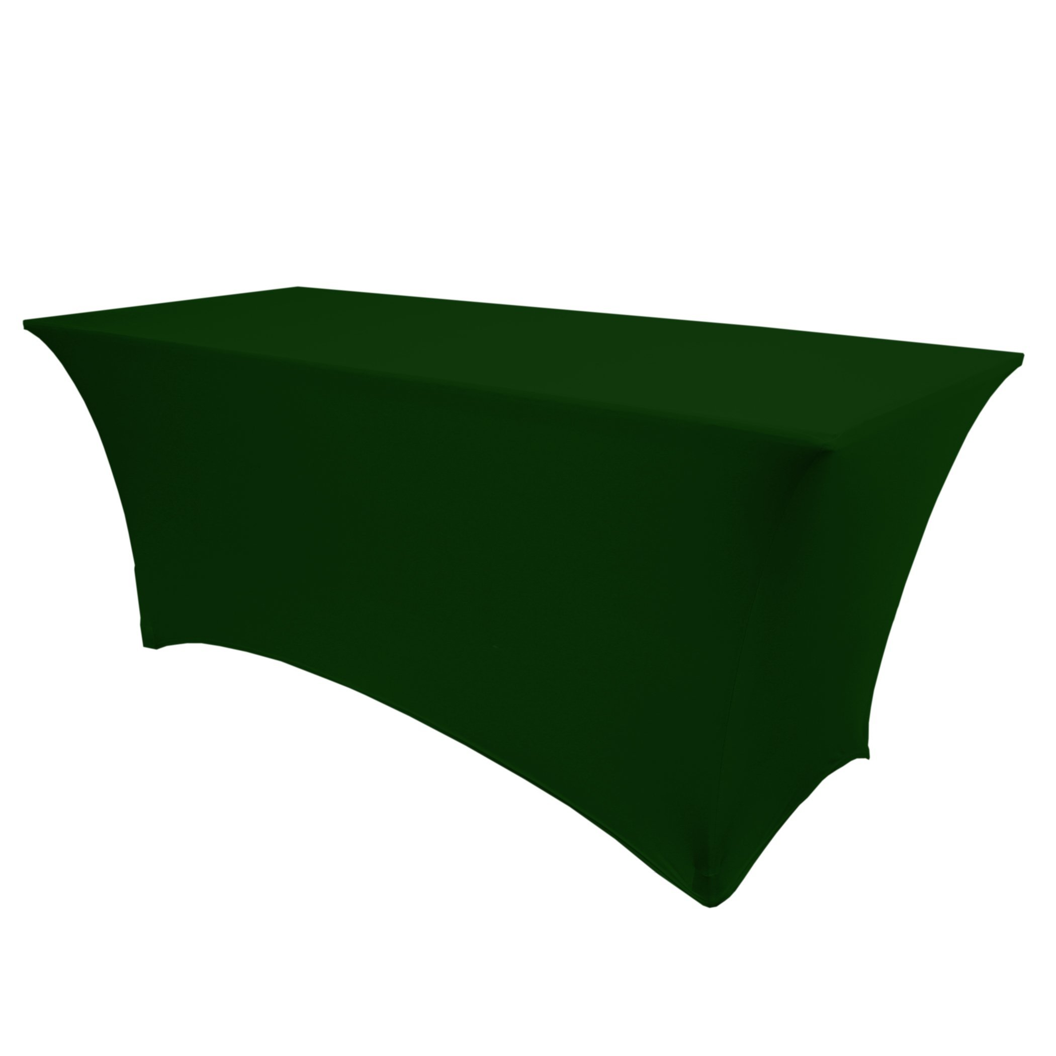 Ultimate Textile (5 Pack) 4 ft. Fitted Spandex Table Cover - for 24 x 48-Inch Banquet and Folding Rectangular Tables, Hunter Green