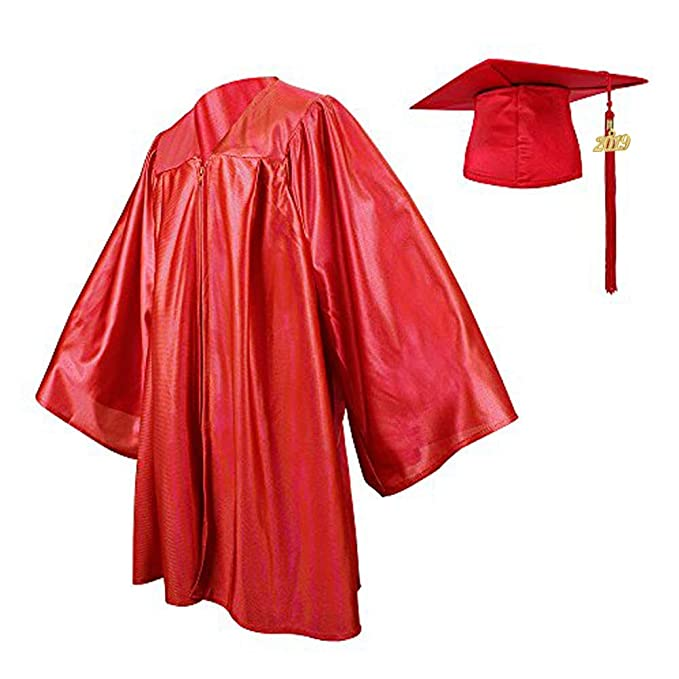 a31a7f1fe7 Amazon.com  Ninuo Shiny Kindergarten Graduation Gown Cap Tassel Set 2019  Costume Robes for Baby Todder Kids Photography  Clothing