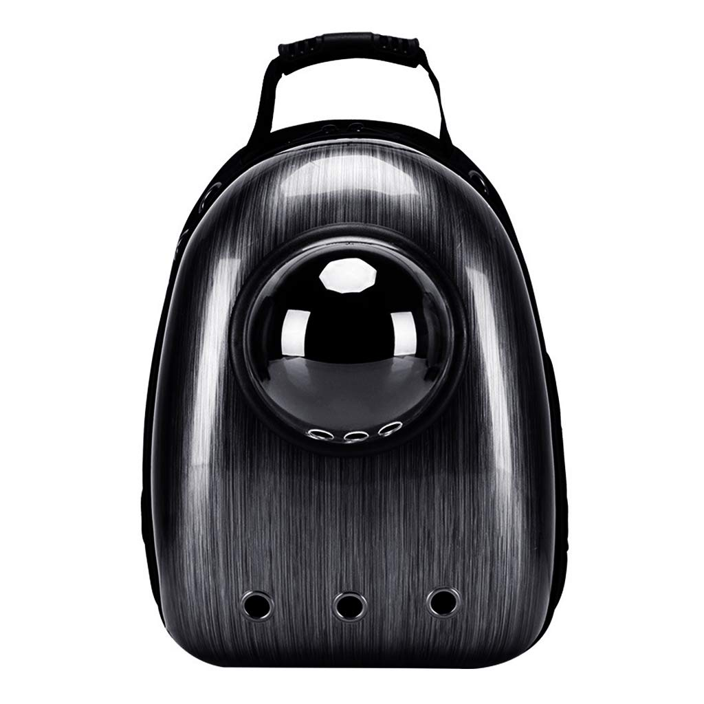 Black Ronri Portable Travel Pet Carrier Backpack, Space Capsule Bubble Design, Waterproof Handbag Backpack for Cat and Small Dog (Black)