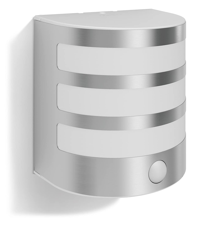 Philips myGarden Calgary - Aplique sin Sensor, LED, iluminación Exterior, 230 V, IP44, Color Gris [Clase de eficiencia energética A+] 915004988801 173144716_Inox apliques iluminacion
