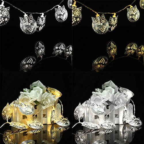 10 LED Owl Party String Lights Outdoor Garden Christmas Wedding Decor (Random: Color)