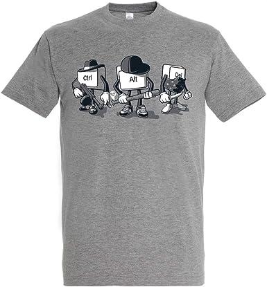 Camiseta Computer Mafia - Humor - Color Gris Mezcla - 100% Algodón - Serigrafía: Amazon.es: Ropa y accesorios