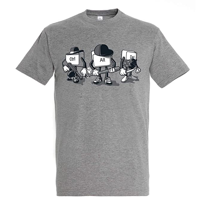 72e70d36f Camiseta Computer Mafia - Humor - Color Gris Mezcla - 100% Algodón -  Serigrafía  Amazon.es  Ropa y accesorios