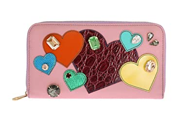 87a82582e12 Amazon.com: Dolce & Gabbana - Pink Leather Continental Clutch Wallet ...