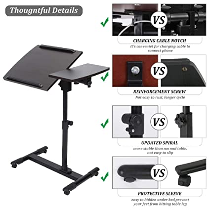 Cozy Desk Portable Adjustable With 2 Cooling Fans Making Things Convenient For Customers Computers/tablets & Networking Laptop Stand For Bed And Sofa