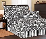 7Pc Full Beverly Microfiber Bedding Comforter Set Black