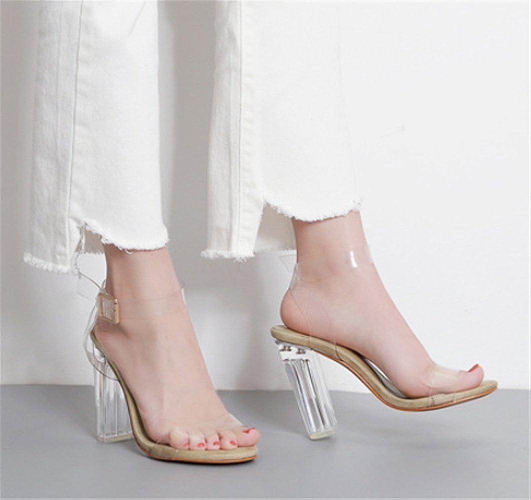 5e6ddffa00fe8e YOGLY Femmes Transparent Sandales à Talons Hauts Clear Escarpins Été Sexy  High Heels Élégant Chaussure Club Soiree: Amazon.fr: Chaussures et Sacs