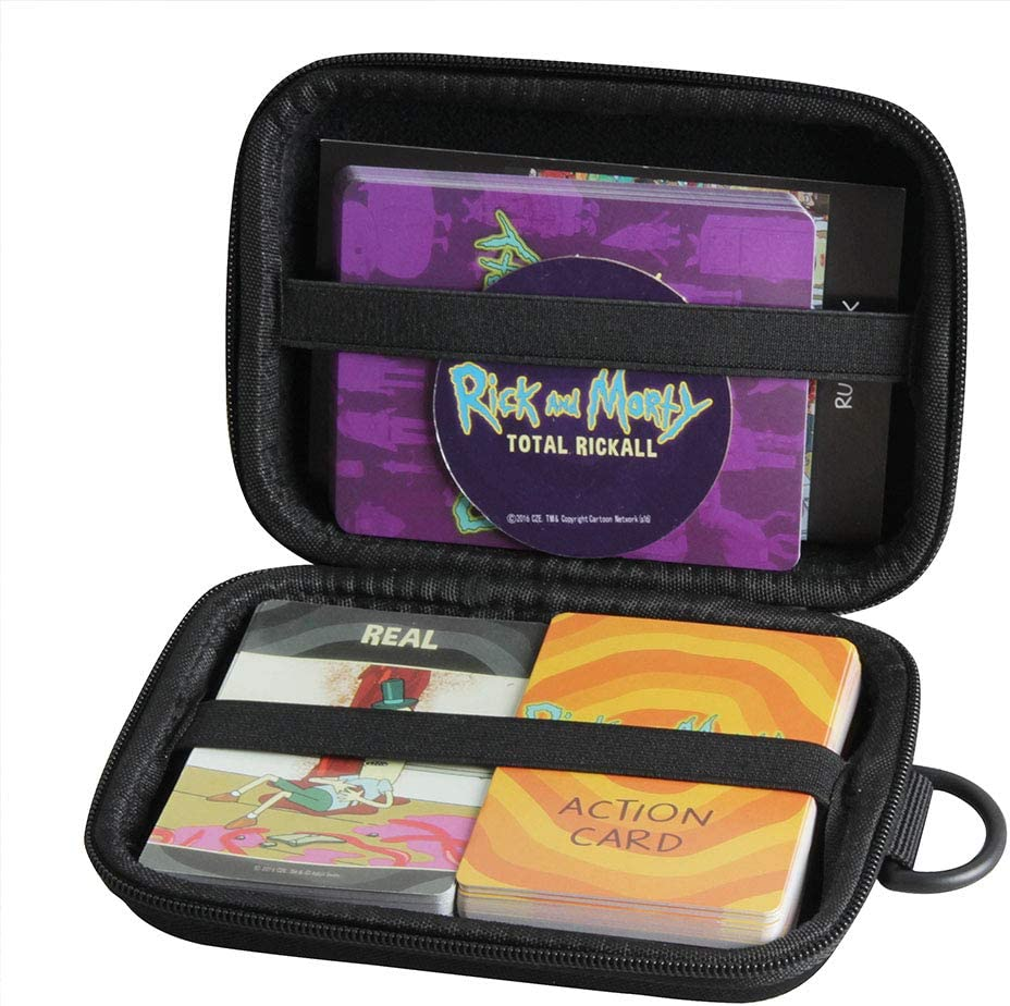 Hermitshell Travel Case for Rick and Morty Total Rickall Cooperative Card Game (Not Including Cards)