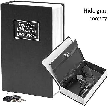 Carcasa de diccionario libro caja fuerte con cerradura de llave de seguridad y 2 llaves incluye 9,5 x 6,2 x 5,59 cm: Amazon.es: Bricolaje y herramientas
