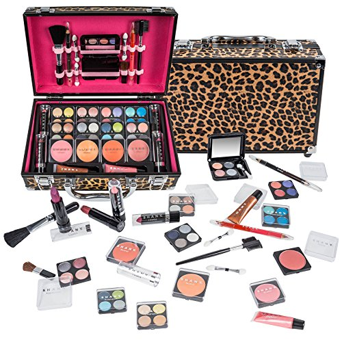 SHANY Carry All Makeup Train Case with Pro Makeup and Reusable Aluminum Case, Leopard]()