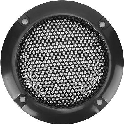 4Pcs 2 Pouces Grille de Haut-Parleur Audio Protecteur d/écoratif Grille de Maille de Haut-Parleur Audio Noir Niunion Grille de Haut-Parleur