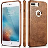 iPhone 8 Plus Case – Premium iPhone 8 Plus Leather Case – Best Mobile Cell Phone Cases Protective Back Cover – Slim Fit Vegan Artificial Synthetic PU Leather Case for Apple iPhone 8 Plus – Brown For Sale