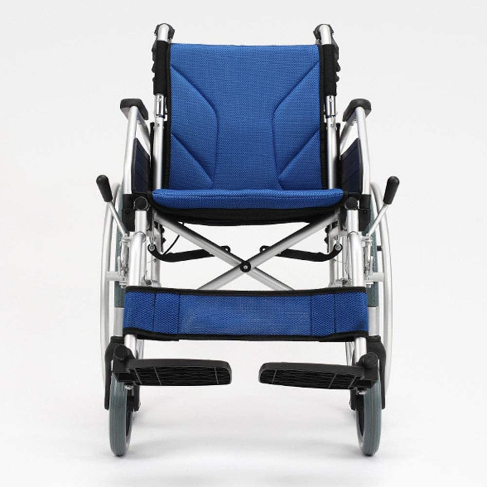 Yadianna 軽量折りたたみ車椅子運転医療、車いすポータブルカート、高齢者障害者アルミニウム合金広がった車椅子スクーター交通
